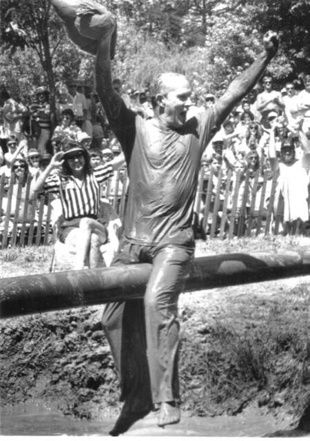 Tommy Smothers, comedian and Sonoma Valley resident, was a frequent competitor at the annual World Championship Pillow Fights held on the 4th of July in Kenwood.