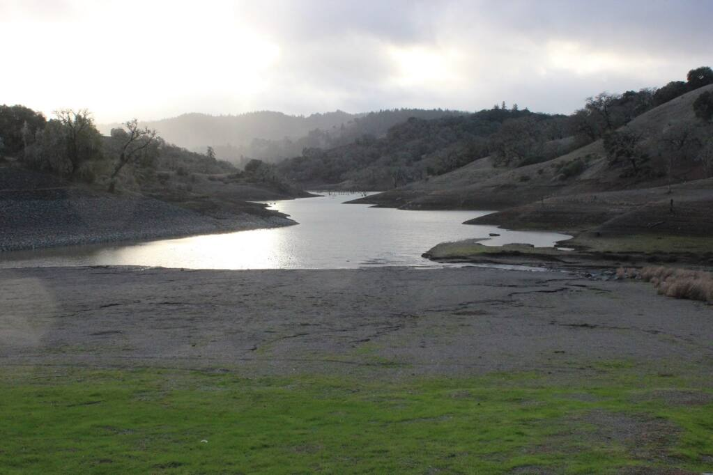 Lake Sonoma, seen here nearly six years ago in 2015, is beginning to show an eerily similar receding shore line. Lake Sonome Army Corp of Engineers photo.