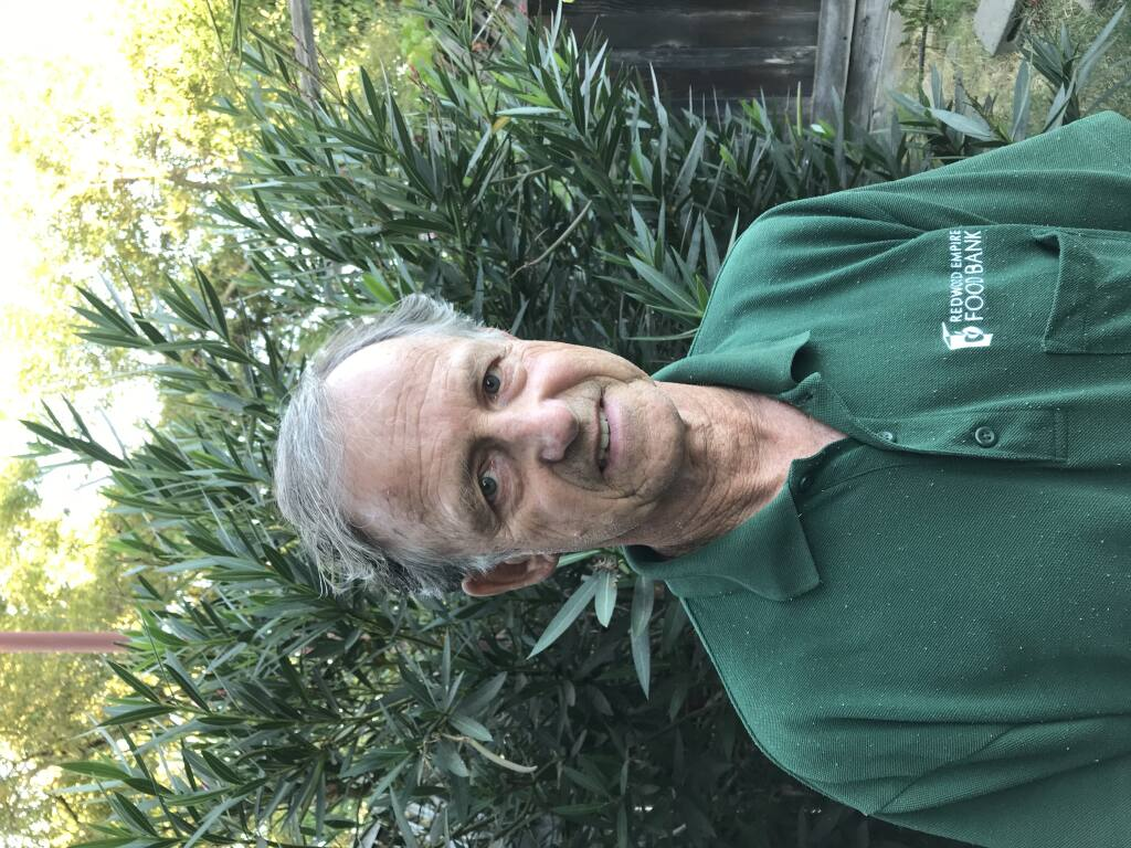 Walt Basinger, volunteer lead, Redwood Empire Food Bank