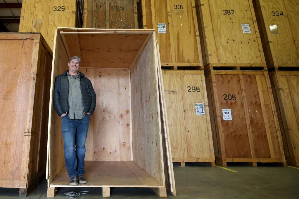 Donald Lawson of Redwood Moving and Storage at the warehouse in Santa Rosa on Tuesday, January 14, 2020. (BETH SCHLANKER/ The Press Democrat)