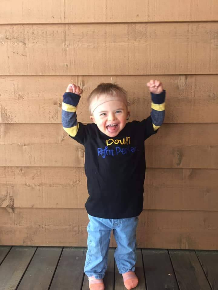 Five-year-old James O'Leary is a global ambassador for Nothing Down, an organization dedicated to changing the way the world sees Down Syndrome. (Photo courtesy | Larkin O'Leary Facebook)