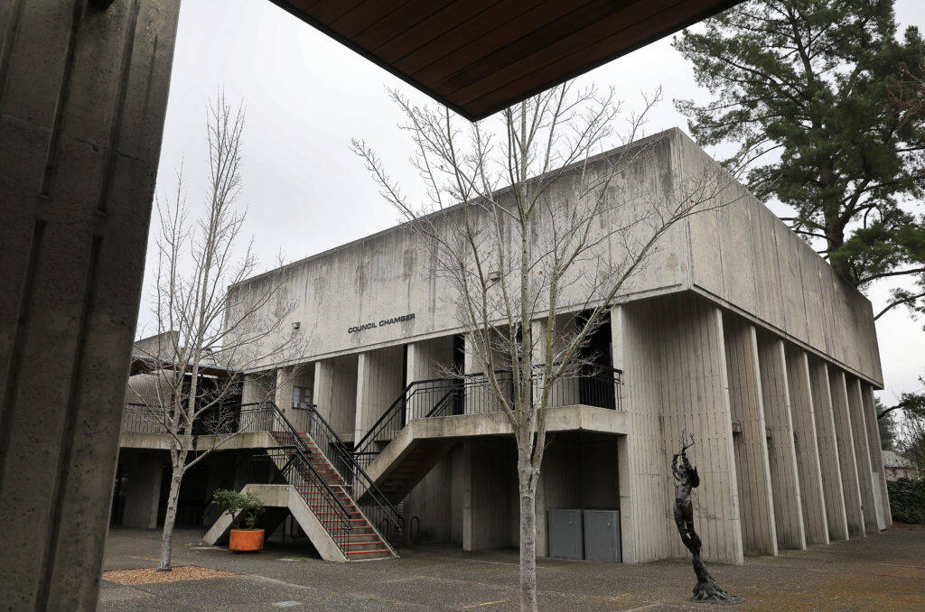 Council Chambers at Santa Rosa City Hall on Wednesday, January 30, 2019. (Christopher Chung/ The Press Democrat)