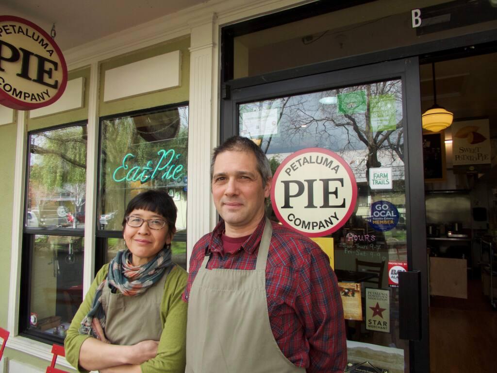 Lina Hoshino and Angelo Sacerdote, owners of Petaluma Pie Company
