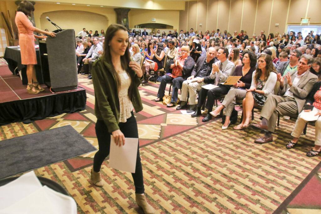 There was no audience to applaud students as there has been in past years, but recipients of Petaluma Educational Foundation-administered scholarships were appreciative of the awards. (SCOTT MANCHESTER/ARGUS-COURIER STAFF)
