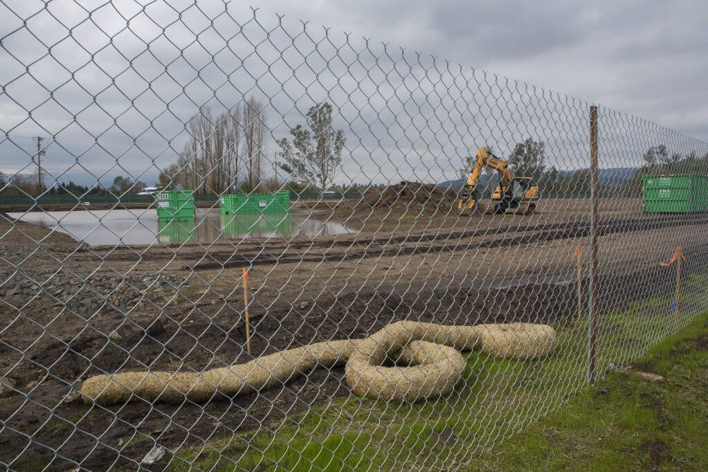 A new storage facility is being built on 8t St. East and Napa Road. (Photo by Robbi Pengelly/Index-Tribune)