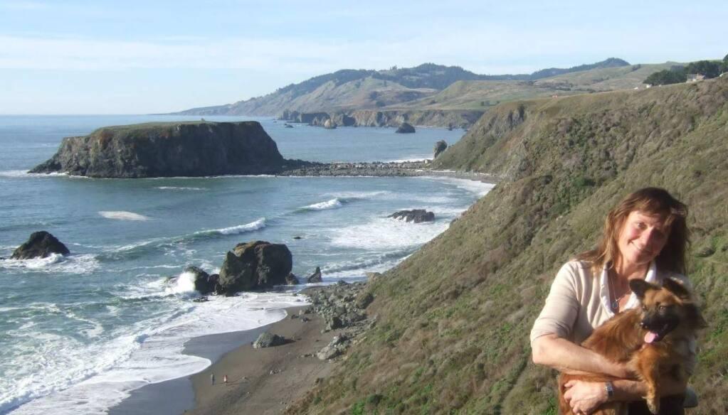 Elizabeth Gaunt, shown in an undated family photo taken along the Sonoma Coast.