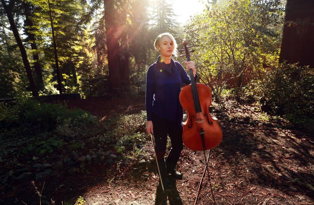 Cellist and Camp Meeker resident Zoë Keating. (JOHN BURGESS / The Press Democrat)