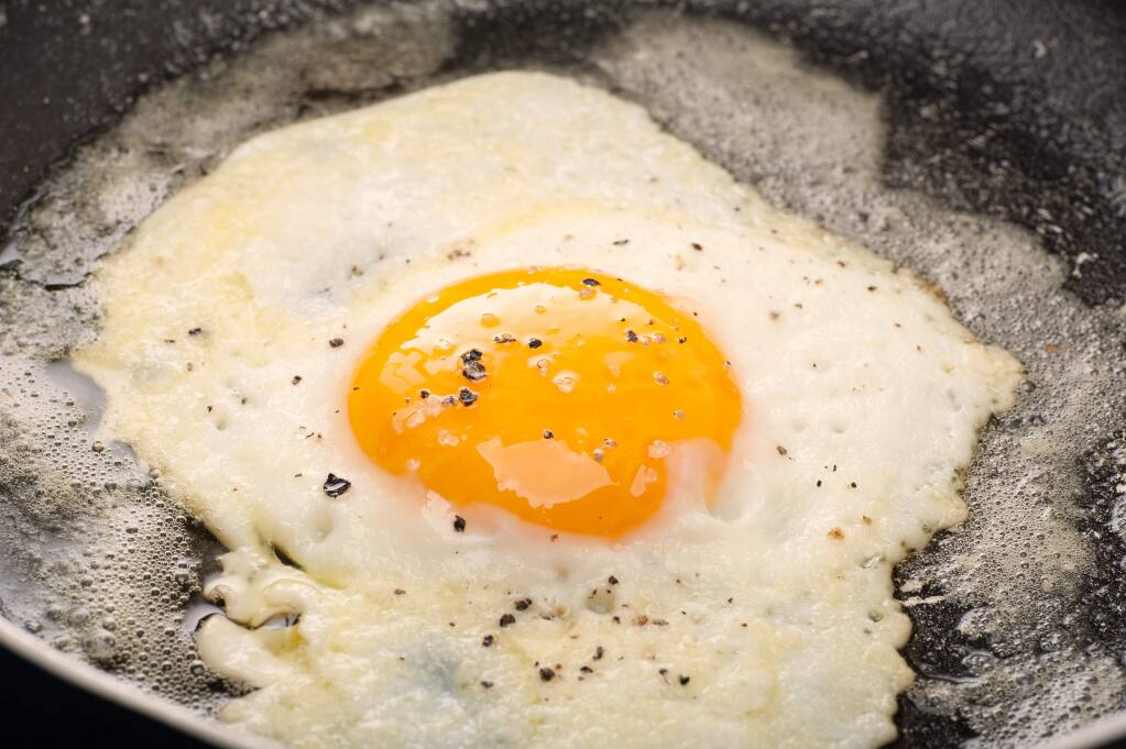 Grease lightning: Basting is the process of spooning butter over the top of the egg as it cooks.