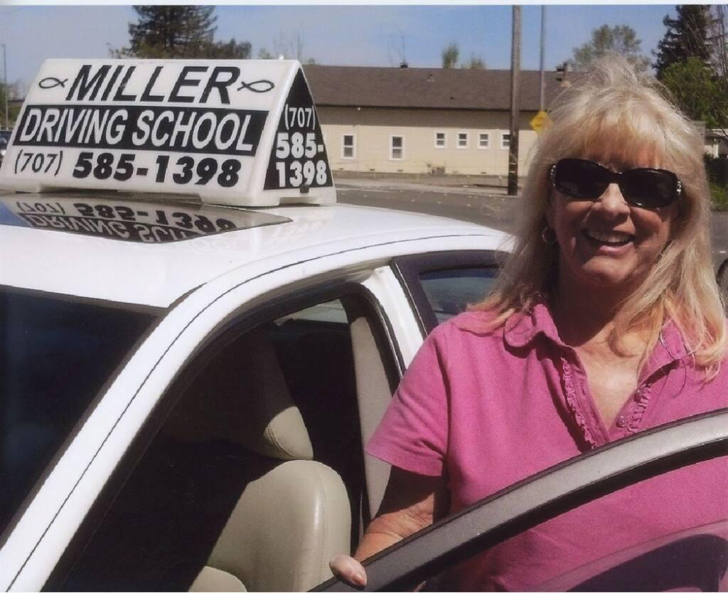 Roileen Miller outside Miller Driving School in Cotati a few years ago. (Supplied by Kelly Waller)