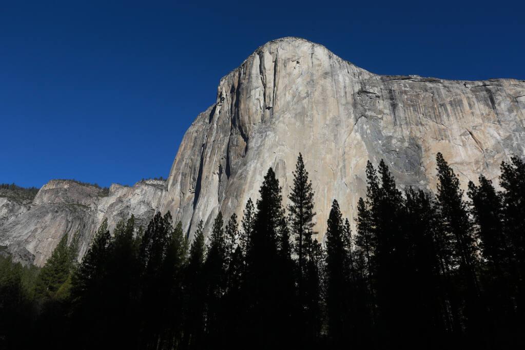 El Capitan in the Yosemite Valley on January 14, 2015.  (Photo by John Burgess/The Press Democrat)