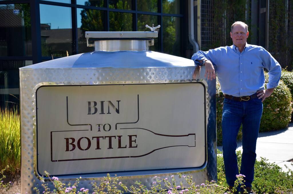 John Wilkinson, managing partner of Bin to Bottle. The Napa-based custom wine producer plans a big expansion of its Napa facilities in 2017. (BINTOBOTTLE.COM)
