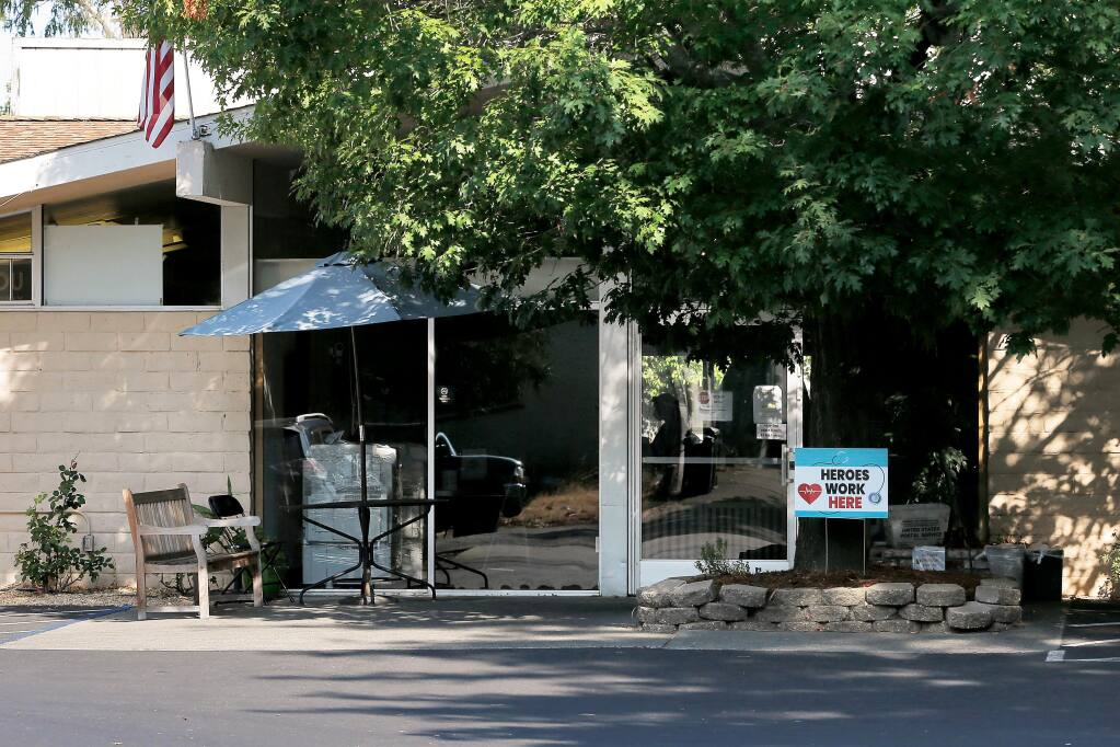 """""""We treat all the residents the same way — with respect,"""" says the director of North Bay Post Acute, doing business as EmpRes Post Acute Health and Rehabilitation, seen here in Petaluma on Aug. 1, 2020. (Alvin Jornada / The Press Democrat)"""