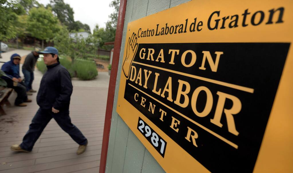 The Graton Day Labor Center, Tuesday May 19, 2015, in Graton. (Kent Porter / Press Democrat) 2015