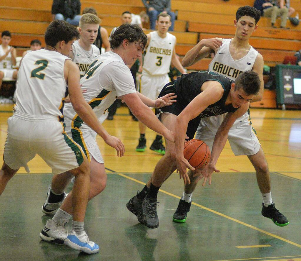SUMNER FOWLER/FOR THE ARGUS-COURIERAn agressive ball-hounding defense in the second half wasn't enough for Casa Grande in a loss to Maria Carrillo.
