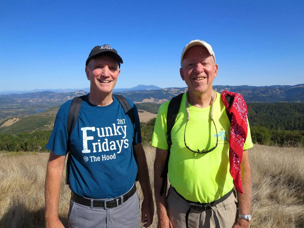 Bill Myers, left, and Dave Chalk have been leading hikes in Sonoma County parks for 20 years. (Bill Myers)