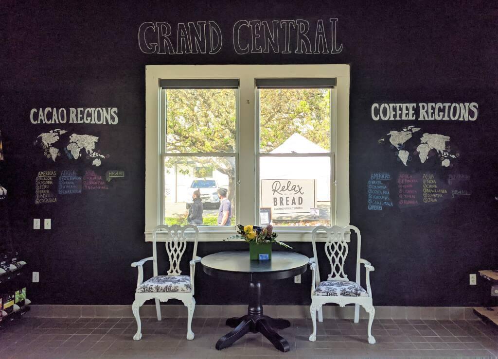 Inside Petaluma's new Grand Central Cafe. (HOUSTON PORTER/FOR THE ARGUS-COURIER)