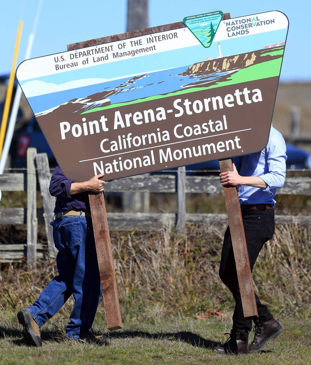 U.S. Interior Secretary Sally Jewell dedicated the Point Arena-Stornetta Public Lands as an official part of the 1,100-mile California Coastal National Monument in Point Arena, Wednesday March 12, 2014 in Mendocino County. (KENT PORTER/ PD FILE)