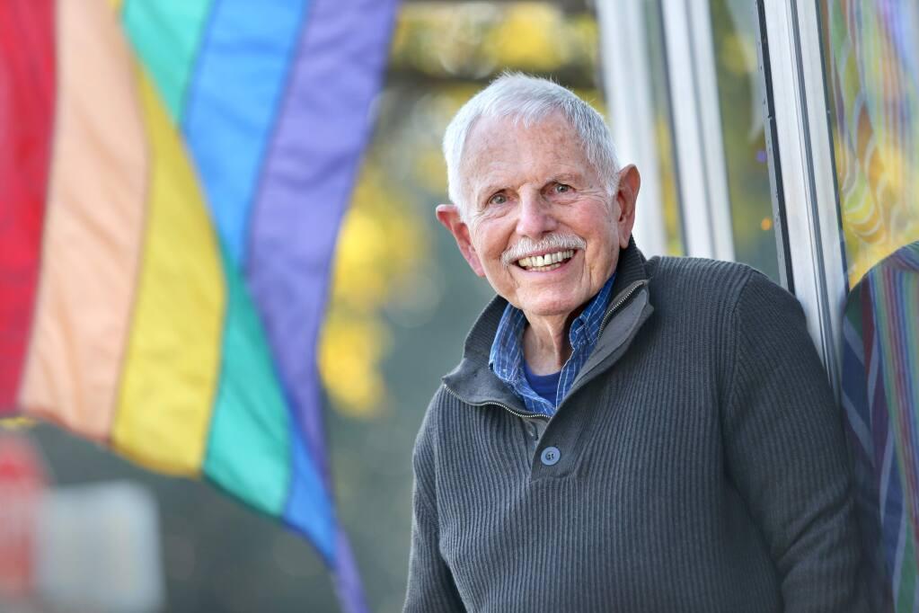 Gary 'Buz' Hermes teaches a class titled 'Aging Gayfully' for the Santa Rosa Junior College Older Adults Program. Photo taken in Santa Rosa on Thursday, January 31, 2019. (BETH SCHLANKER/ The Press Democrat)