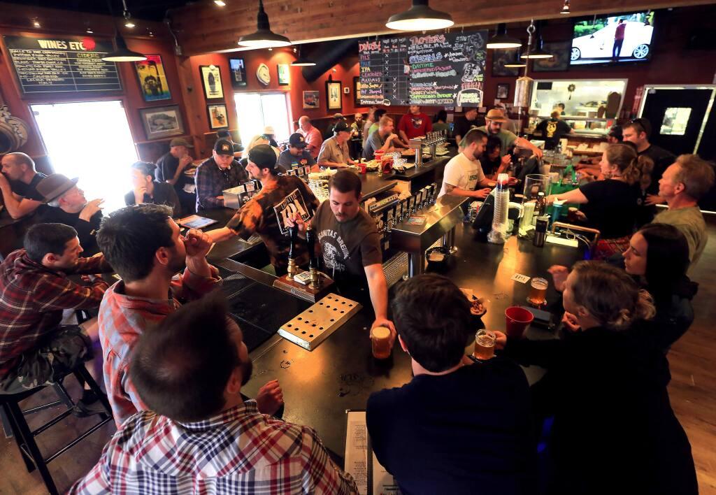 The popular Lagunitas Taproom in Petaluma (JOHN BURGESS/ PD FILE)