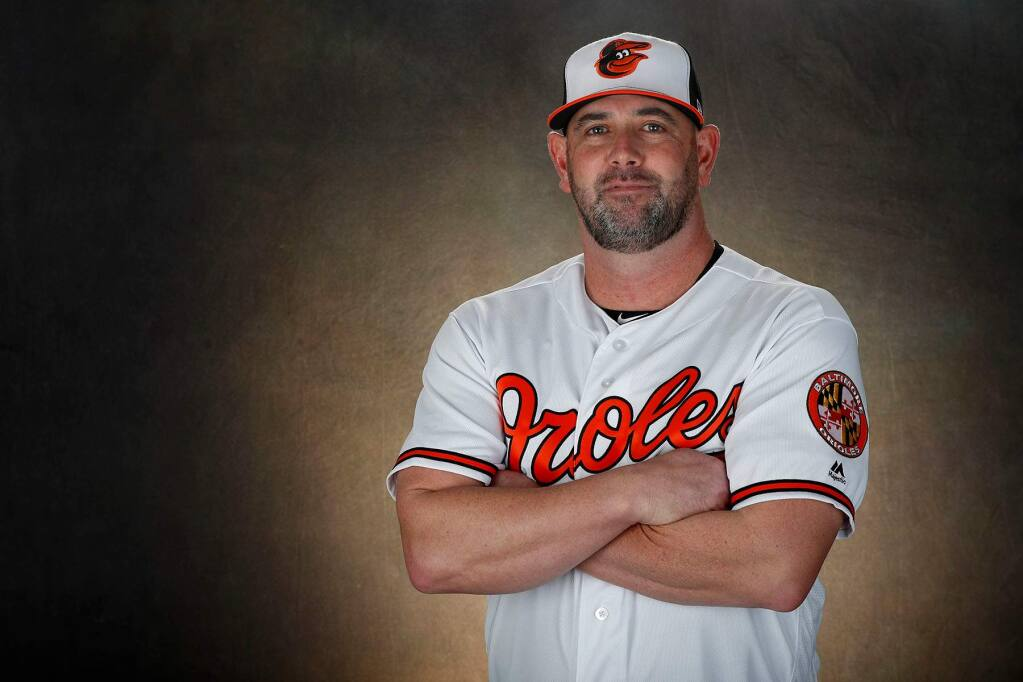 Baltimore Orioles manager Brandon Hyde, a Santa Rosa native.