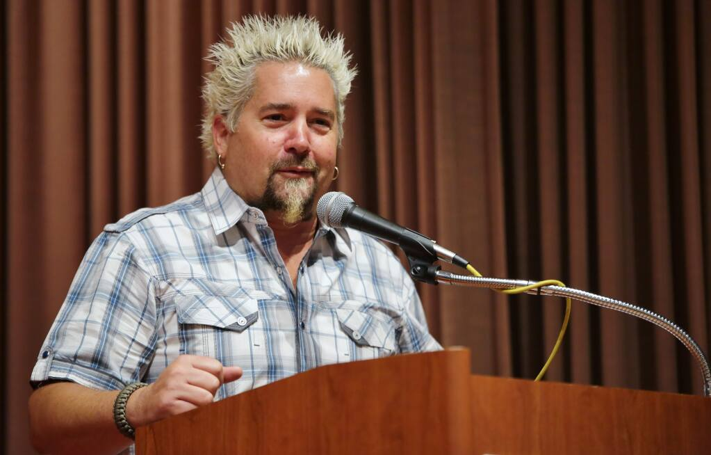 Small Business Week was celebrated with a breakfast at the Flamingo Hotel in Santa Rosa, with Guy Fieri as speaker, Tuesday, May 5, 2015. (photo by Will Bucquoy)