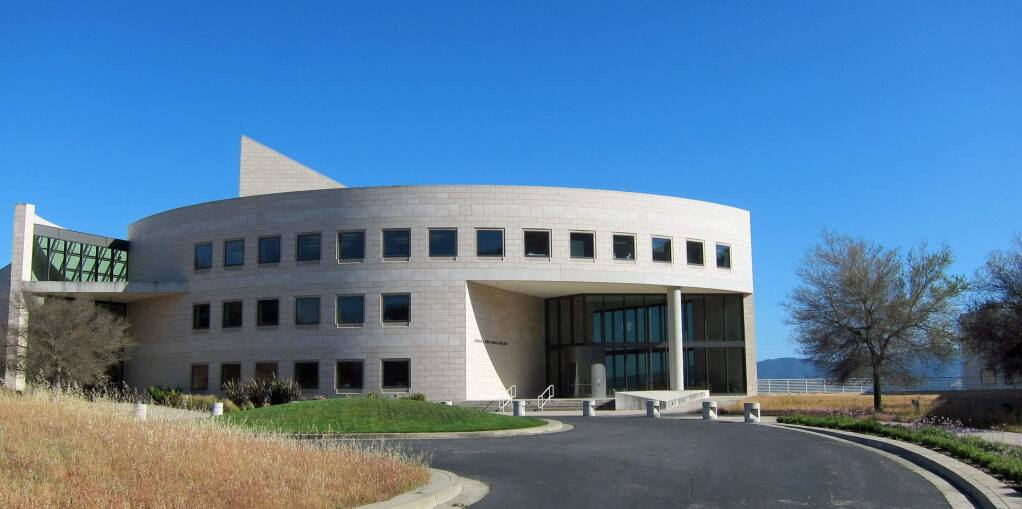 The Buck Institute for Research on Aging's main entrance in Novato
