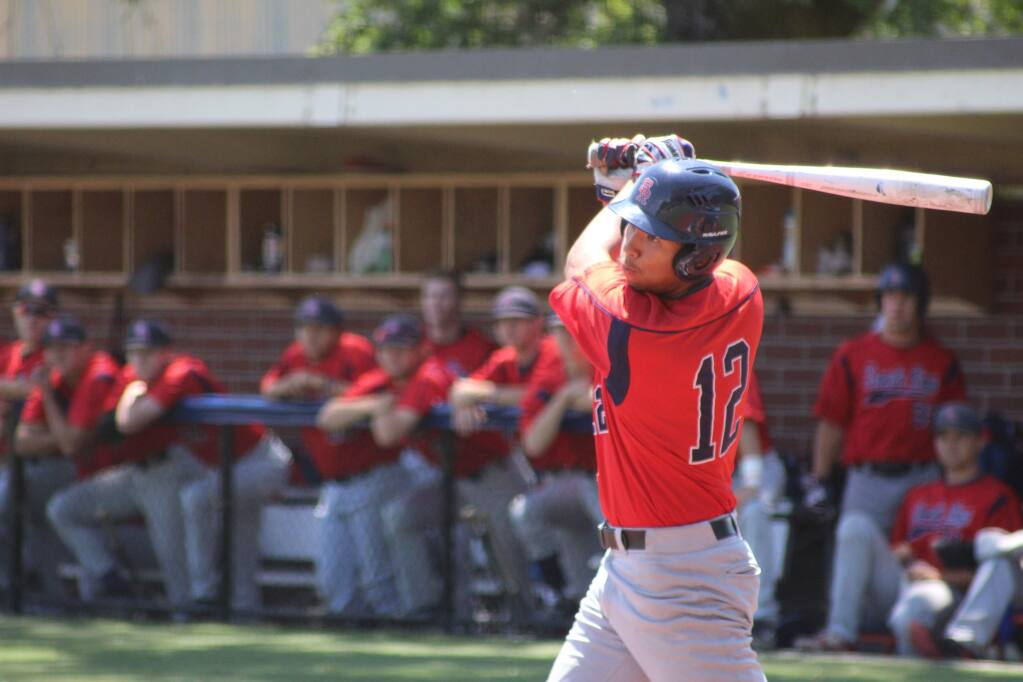 Santa Rosa Junior College sophomore outfielder Jo Bynum finished the season with a .313 batting average and 41 RBIs. (Albert Gregory / for The Press Democrat)