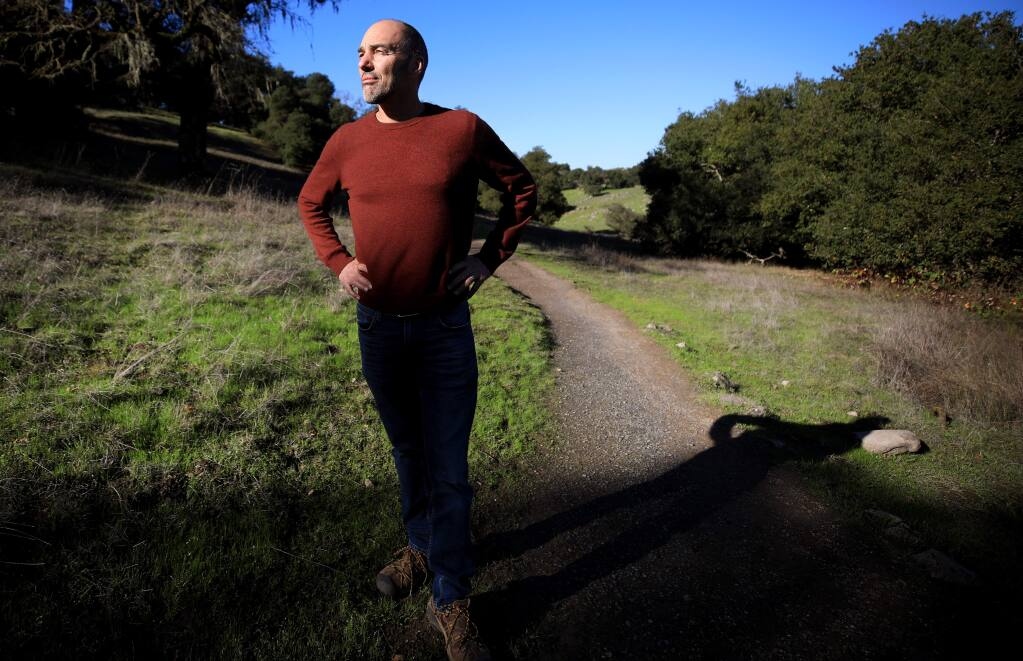 Bill Keene, general manager of the Sonoma County Agricultural and Open Space District, Monday, Dec. 16, 2019, at Taylor Mountain Regional Park in Santa Rosa. (Kent Porter / The Press Democrat) 2019