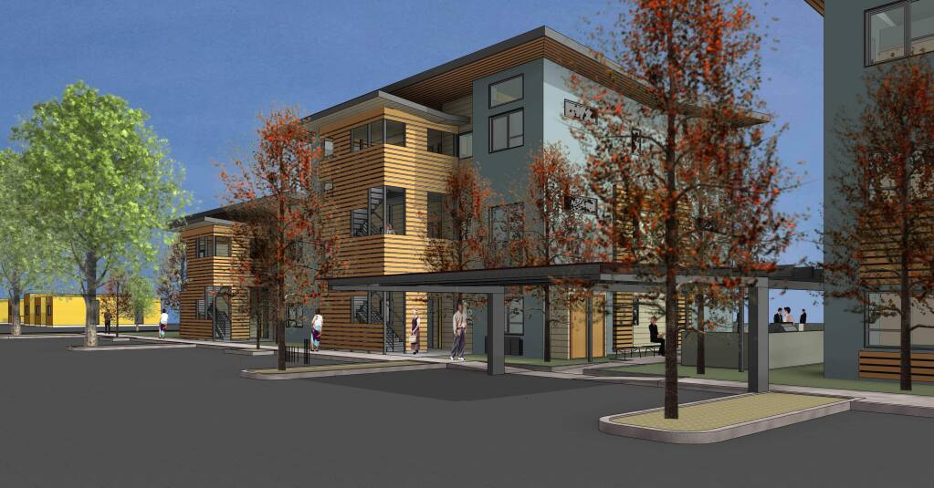 North Street Apartments proposed project by Hedgpeth Architects.