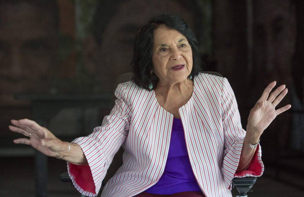Dolores Huerta, American labor leader and civil rights activist spoke at Hanna Boys Center on Thursday, Sept. 12. (Photo by Robbi Pengelly/Index-Tribune)