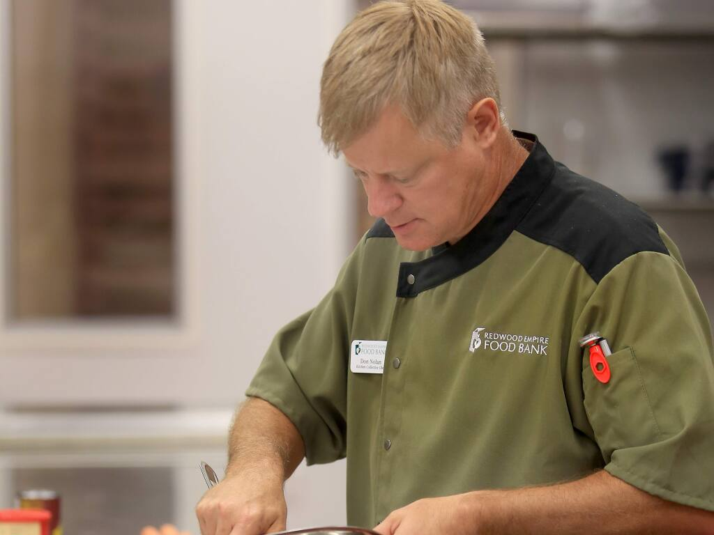 Redwood Empire Food Bank chef Don Nolan will join hurricane relief efforts in Houston next week. (KENT PORTER / The Press Democrat, 2015)