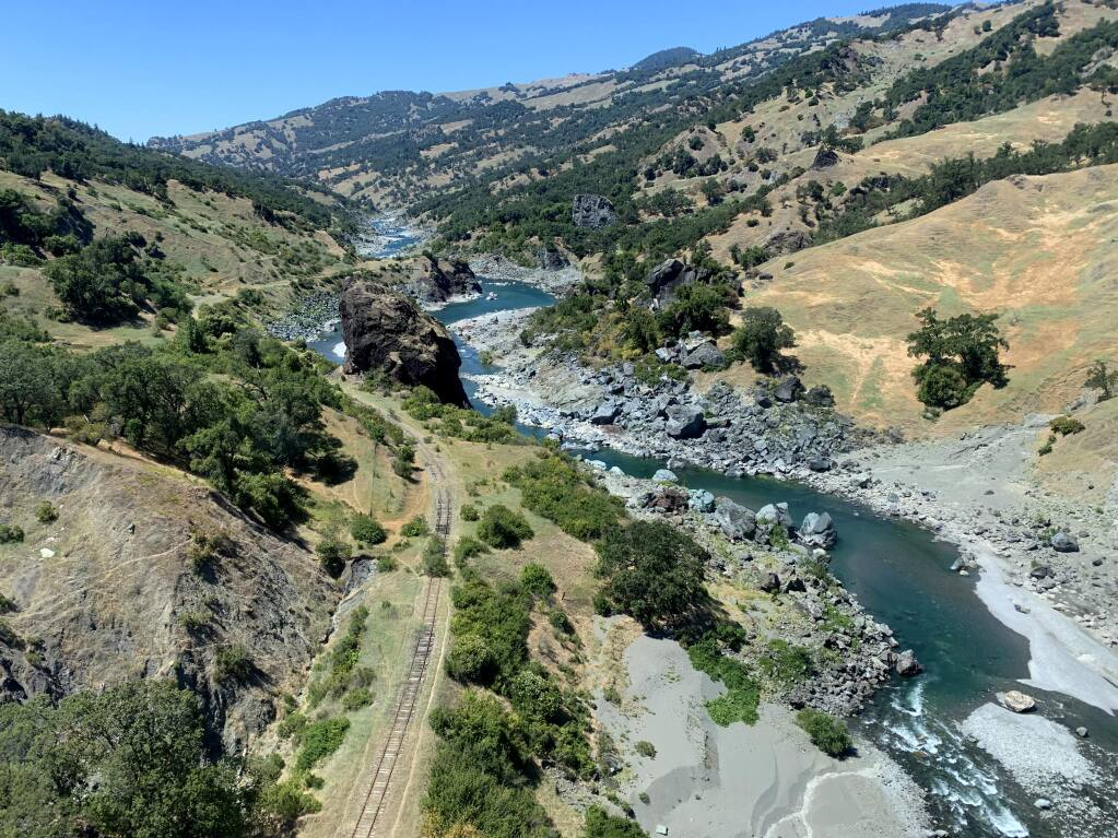 The Grand Canyon of the Eel is an important acquisition in the protection of the National Wild and Scenic Eel River and the establishment of the Great Redwood Trail. (THE WILDLANDS CONSERVANCY)