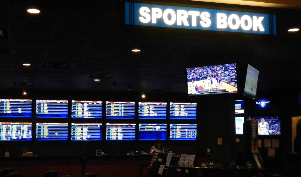 Voters in 2022 will decide if Indian casinos in California can add sports books, like those seen here at Boomtown Casino near Reno, Nevada. (Kathryn Reed / for North Bay Business Journal)