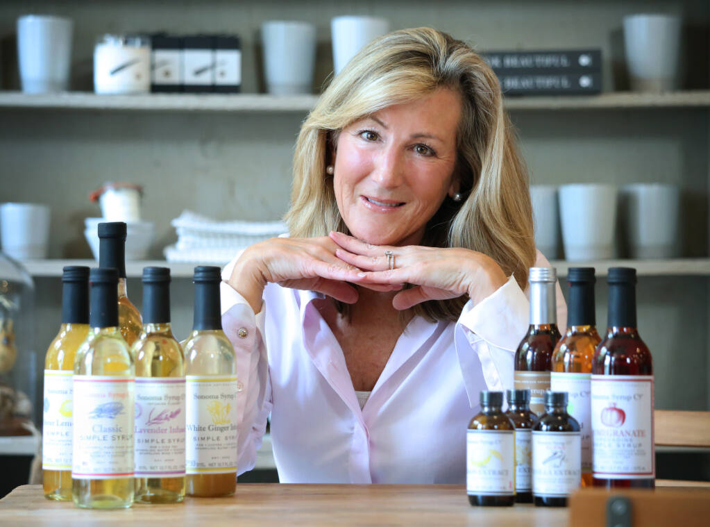 Karin Campion, who founded Sonoma Syrup Co. in 2002, used the natural flavors she found in her garden to begin crafting her uniquely flavored syrups and extracts. (Photo by Robbi Pengelly/Index-Tribune)