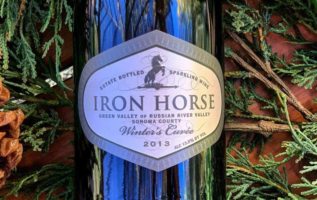 """Joy Sterling, CEO of Iron Horse Vineyards, said a seasonal sparkling wine, """"just seemed to go with the season in a heartwarming way.""""  (Courtesy Photo)"""