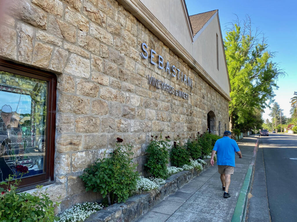 The Sebastiani tasting room on Fourth Street East will remain open. (Photo: Lorna Sheridan)