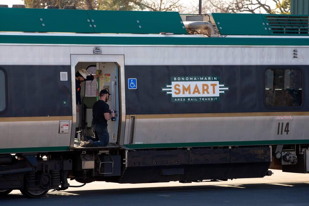 Public transit agencies slash schedules as ridership plummets (Alvin Jornada / The Press Democrat)