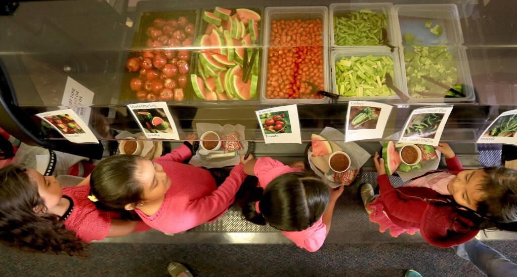 The garden bar at Healdsburg Elementary, Monday Oct. 27, 2014. (Kent Porter / Press Democrat) 2014
