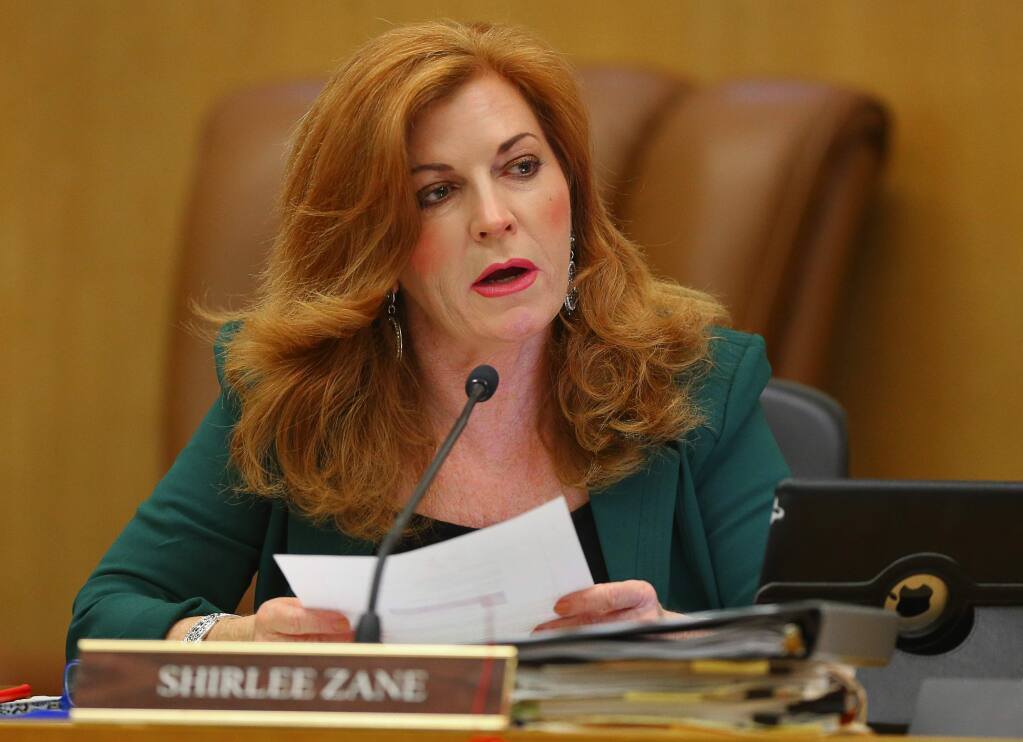 Sonoma County Supervisor Shirlee Zane (Christopher Chung/ The Press Democrat)