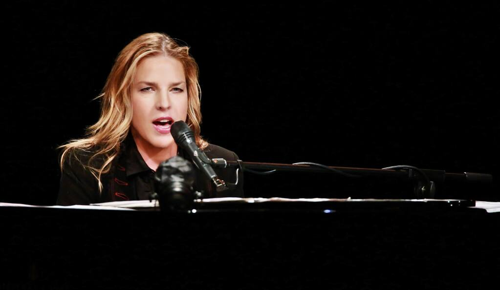 Diana Krall played to a sold-out crowd at the Wells Fargo Center for the Arts in Santa Rosa on Tuesday, Aug. 18, 2015. (COURTESY OF WILL BUCQUOY)