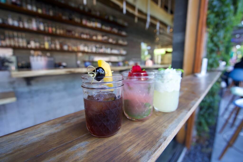 Cocktails to-go come in Mason jars at Spoonbar in Healdsburg. (Spoonbar)
