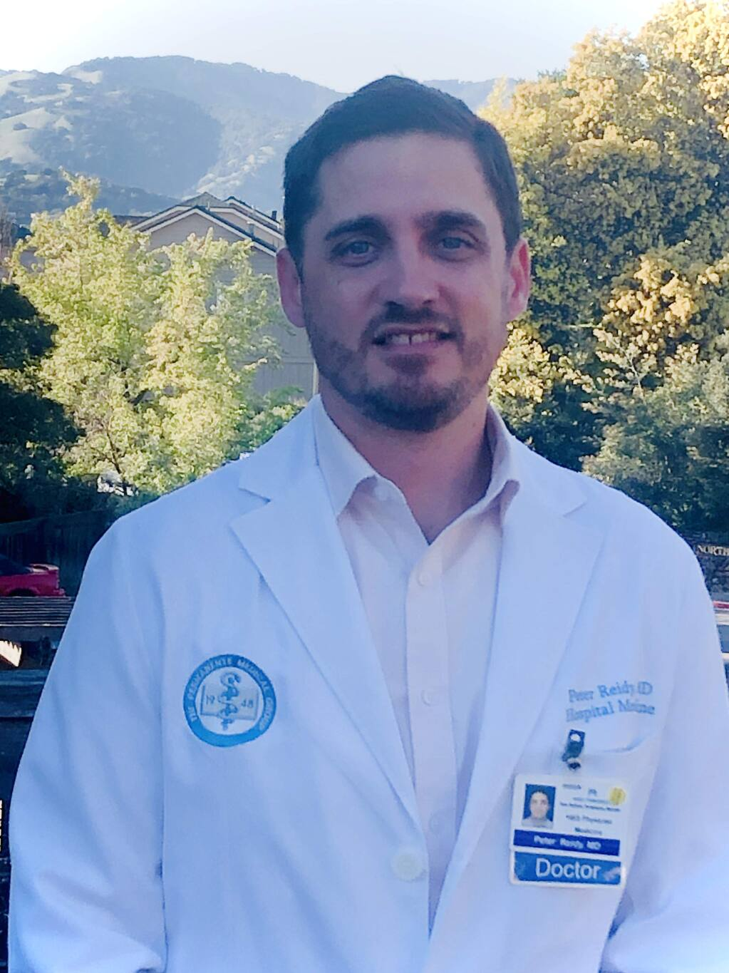 Peter Reidy, M.D., 39, chief of skilled nursing facility medicine, Kaiser Permanente San Rafael Medical Center, is a 2020 Forty Under 40 winner. (courtesy photo)