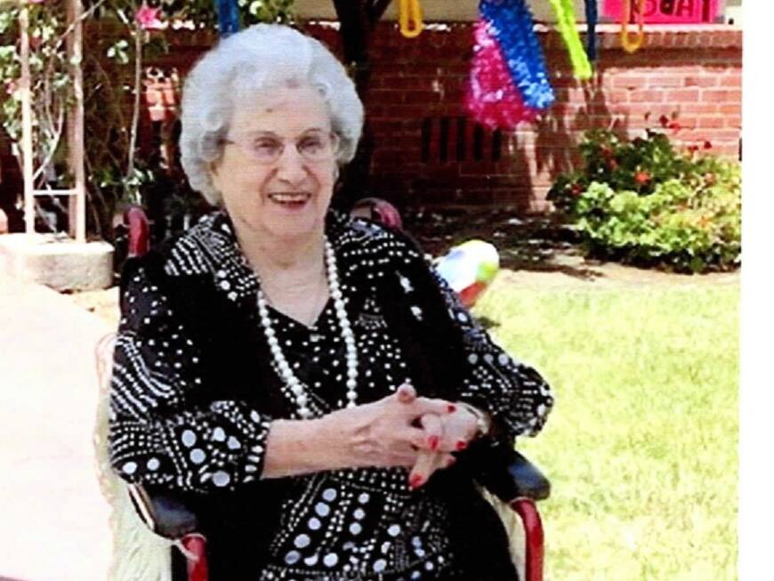 Rose Gaspari, photographed here on her 106th birthday in 2020, was described by family as a strong woman who was healthy, independent and passionate. She died in her sleep on July 23 at the Arbol Residences of Santa Rosa, an assisted living facility. She was 107. (Courtesy Rodney Palmieri)