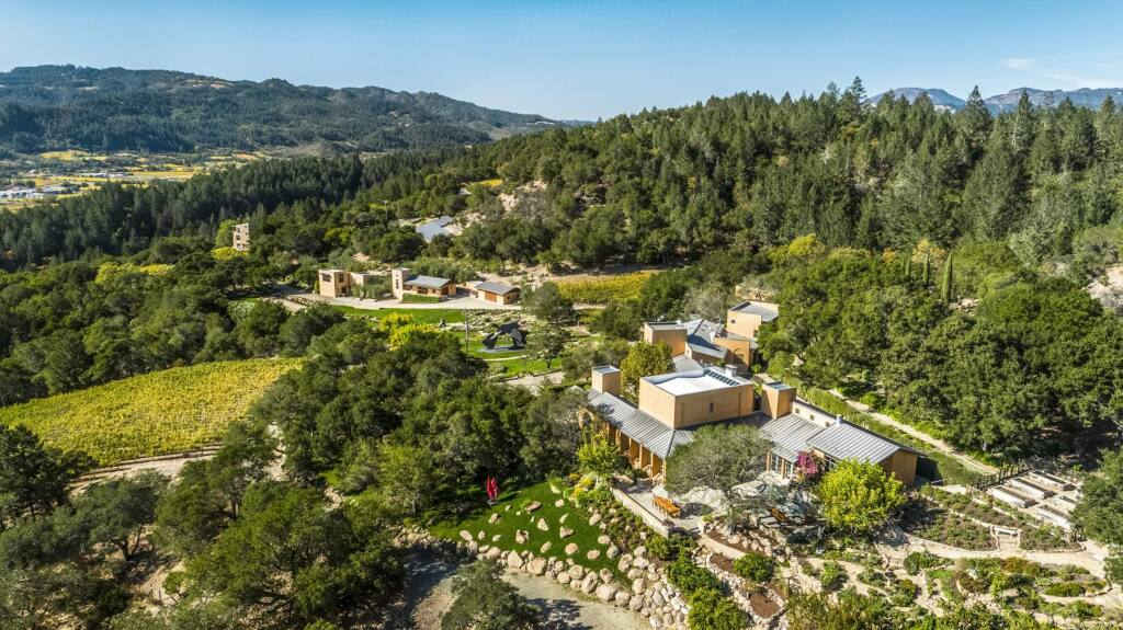 An aerial view of Seven Stones Estate in St. Helena. (Photo: Michael Jacobson)