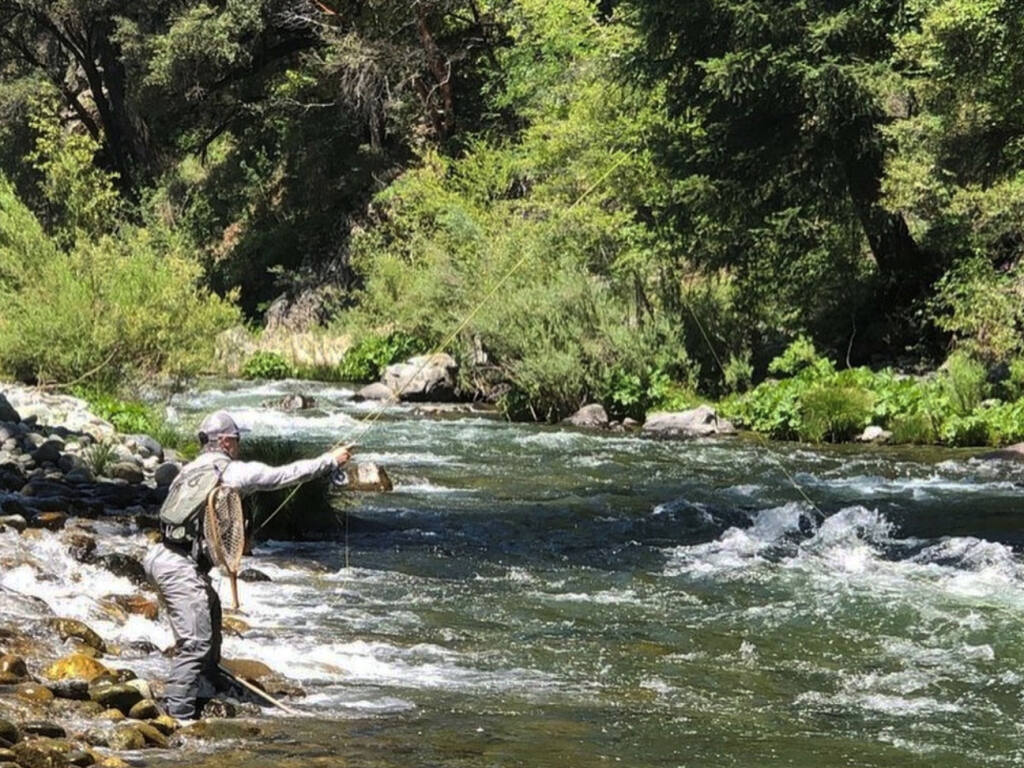 A fishing spot near Dunsmuir captures the essence of fishing the Upper Sacramento River that tumbles through the canyon between Mt. Shasta and Lake Shasta (Ted Fay Fly Shop)