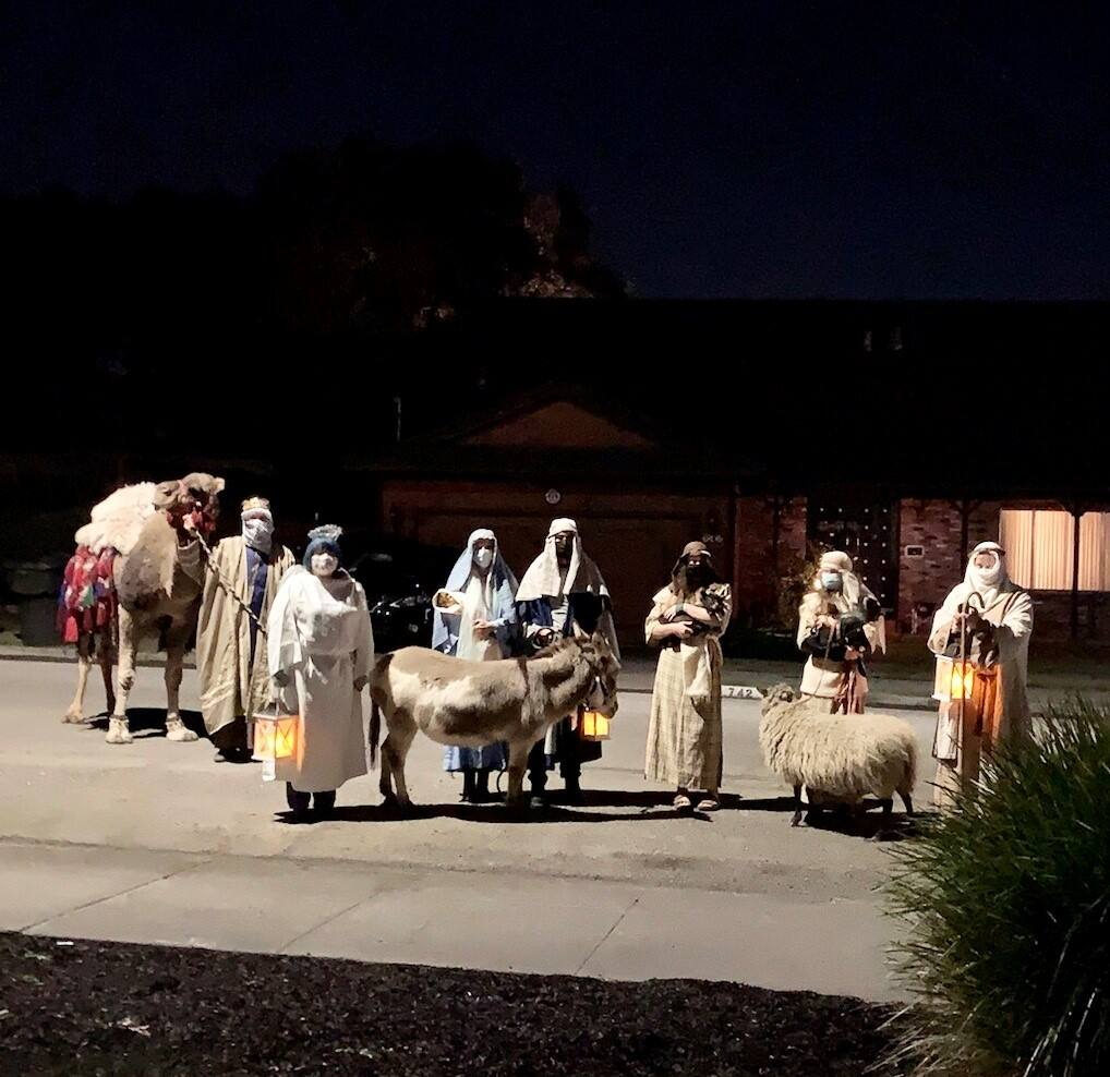 A walking, live nativity... just like they did it in the old days, says letter writer.