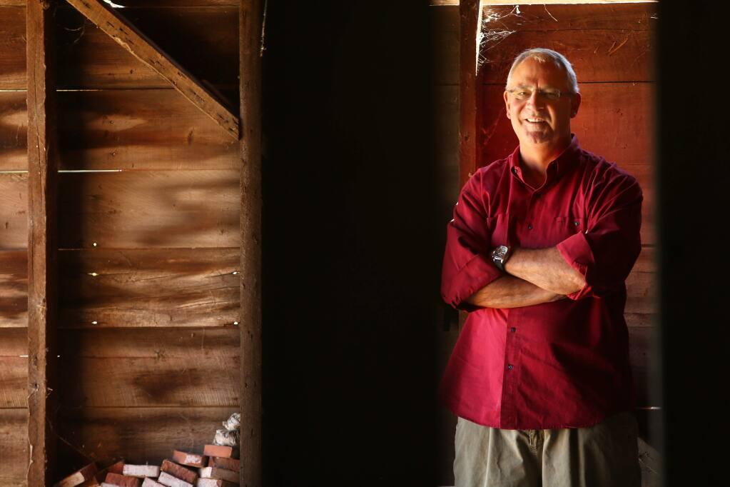 David Ramey stands in his newly bought barn at Westside Farms in Healdsburg on Tuesday, September 17, 2013. (Conner Jay/The Press Democrat)