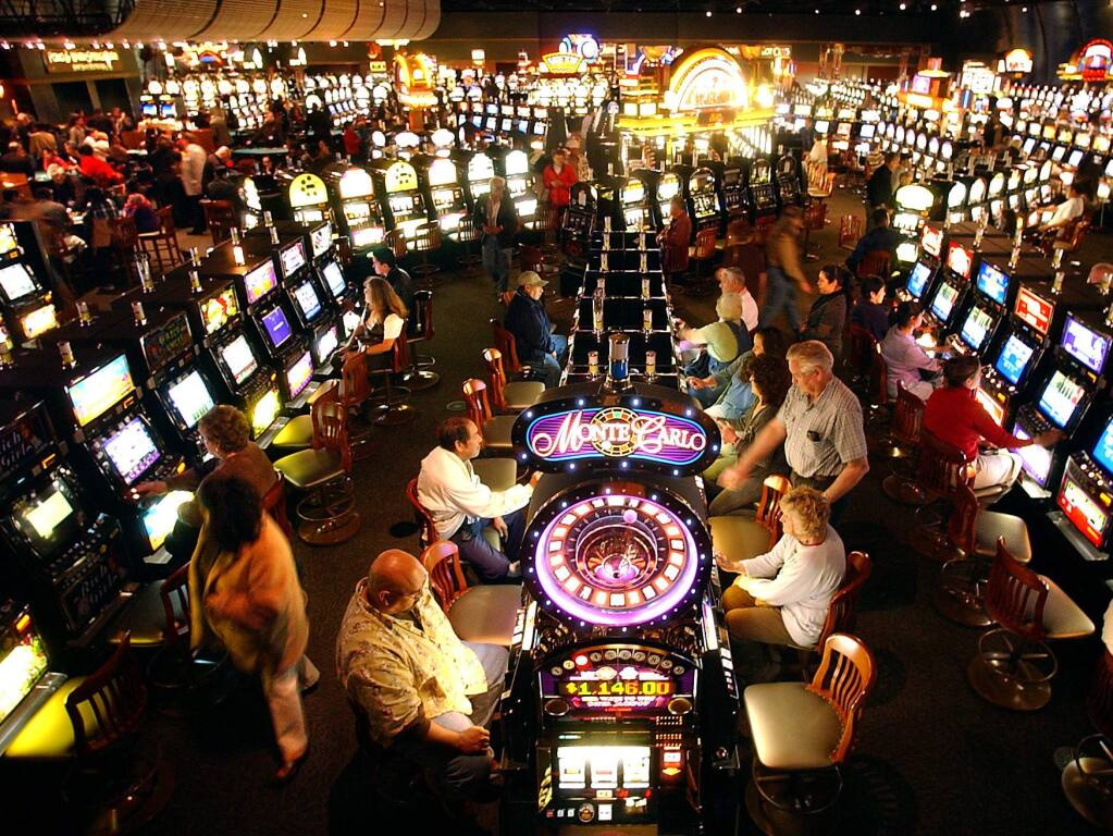 10/28/2009:B9: River Rock Casino, owned by the Dry Creek Rancheria Band of Pomo Indians, in Alexander Valley offers 1,600 slot machines. (PRESS DEMOCRAT FILE PHOTO)