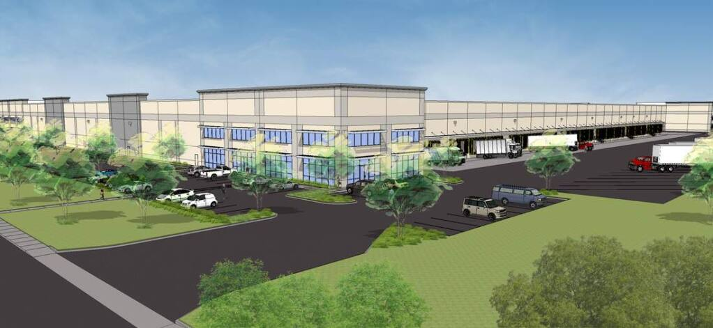 Panattoni Development plans to start construction on its three-building, 1.04 million-square-foot Gateway80 Business Park project on Cordelia Road in Fairfield in early 2016. (courtesy of JLL)
