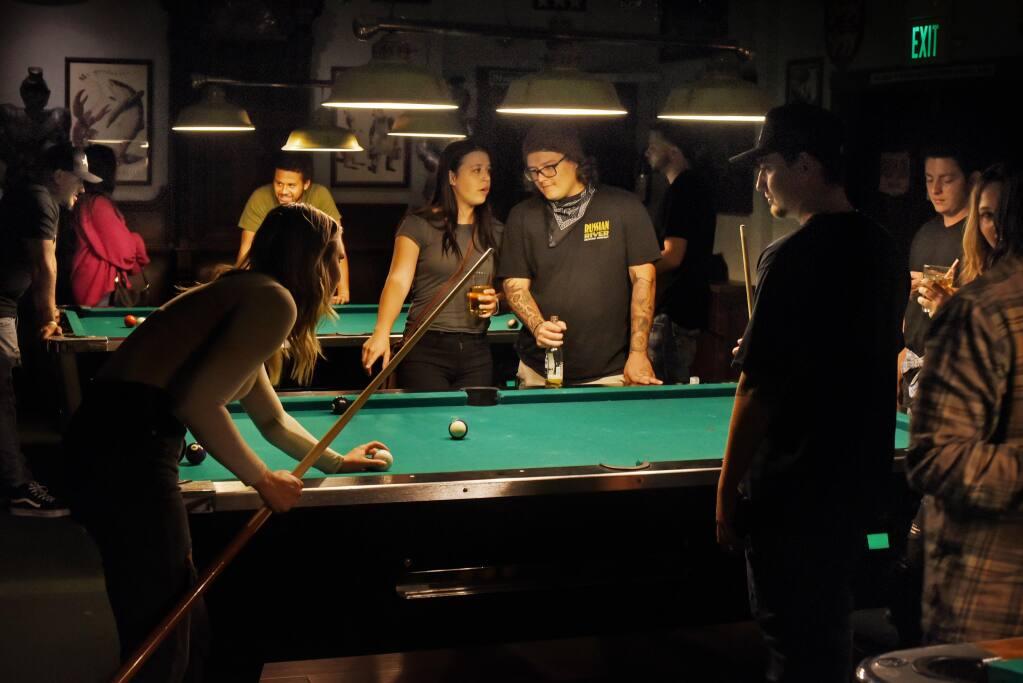 The pool table area at Friar Tucks Pub in Cotati California, on Thursday, July 2, 2020.(Erik Castro/The Press Democrat)